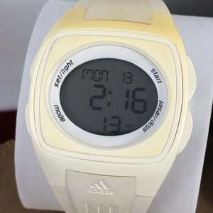Ladies Adidas White Digital Quartz Watch